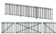 Peco LK-742 GWR Spear Fencing: Ramp Panels, Gates and Posts